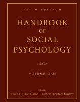 Handbook of Social Psychology, Volume 1 (Hardback)