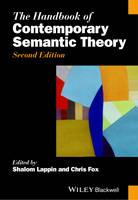 The Handbook of Contemporary Semantic Theory - Blackwell Handbooks in Linguistics (Hardback)
