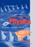 Student Solutions Manual to accompany Physics, 5e (Paperback)