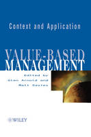 Value-based Management: Context and Application (Hardback)