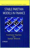 Stable Paretian Models in Finance - Financial Economics and Quantitative Analysis Series (Hardback)
