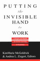 Putting the Invisible Hand to Work: Concepts and Models for Service Learning in Economics (Paperback)