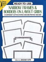 Ready-to-Use Narrow Frames and Borders - Dover Clip Art Ready-to-Use (Paperback)