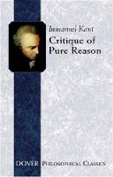 Critique of Pure Reason - Dover Philosophical Classics (Paperback)