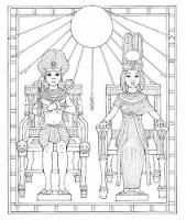 King Tut Coloring Book - Dover History Coloring Book (Paperback)