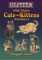 Glitter Old-Time Cats and Kittens Stickers - Dover Stickers (Paperback)