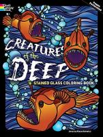 Creatures of the Deep Stained Glass Coloring Book - Dover Stained Glass Coloring Book (Paperback)
