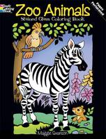 Zoo Animals Stained Glass Coloring Book - Dover Stained Glass Coloring Books (Paperback)