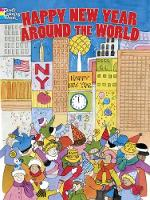 Happy New Year Around the World - Dover Holiday Coloring Book (Paperback)