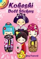 Kokeshi Doll Stickers - Dover Little Activity Books Stickers (Paperback)