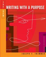 The New Writing with a Purpose (with 2009 MLA Update Card) (Hardback)