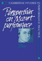 Cambridge Studies in Performance Practice: Perspectives on Mozart Performance Series Number 1 (Paperback)