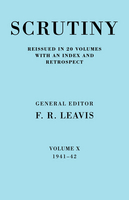 Scrutiny: A Quarterly Review 20 Volume Paperback Set 1932-53 Scrutiny: A Quarterly Review: 1941-42 Volume 10 (Paperback)