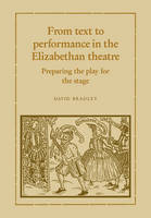 From Text to Performance in the Elizabethan Theatre: Preparing the Play for the Stage (Paperback)