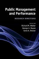 Public Management and Performance: Research Directions (Hardback)