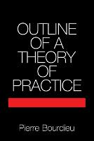 Outline of a Theory of Practice - Cambridge Studies in Social and Cultural Anthropology (Paperback)