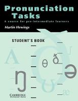 Pronunciation Tasks Student's book: A Course for Pre-intermediate Learners (Paperback)