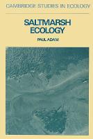 Cambridge Studies in Ecology: Saltmarsh Ecology (Paperback)