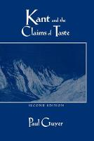 Kant and the Claims of Taste (Paperback)