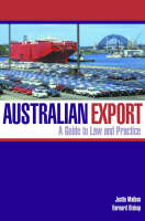 Australian Export: A Guide to Law and Practice (Paperback)