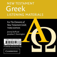 New Testament Greek Listening Materials: For the Elements of New Testament Greek (CD-Audio)