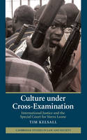 Culture under Cross-Examination: International Justice and the Special Court for Sierra Leone - Cambridge Studies in Law and Society (Hardback)