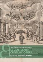The Cambridge Companion to Seventeenth-Century Opera
