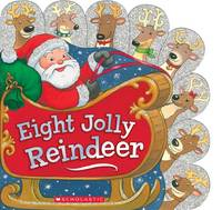 Eight Jolly Reindeer (Board book)