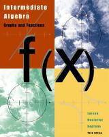 Intermediate Algebra: Graphs and Functions (Hardback)