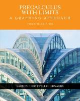 Precalculus with Limits: A Graphing Approach (Hardback)