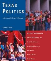Texas Politics: Individuals Making a Difference (Paperback)