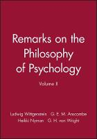 Remarks on the Philosophy of Psychology, Volume II (Paperback)