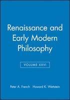 Renaissance and Early Modern Philosophy - Midwest Studies in Philosophy (Paperback)