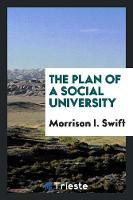 The Plan of a Social University (Paperback)