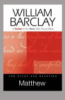 Matthew: A Guide to the New Daily Study Bible (Paperback)