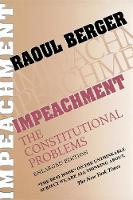 Impeachment: The Constitutional Problems (Paperback)