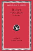 Moral Essays, Volume I: De Providentia. De Constantia. De Ira. De Clementia - Loeb Classical Library *CONTINS TO info@harvardup.co.uk (Hardback)
