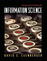 Information Science (Hardback)