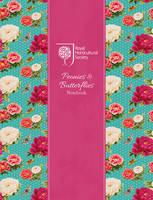 RHS Peonies and Butterflies Notebook (Silver)