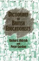 Dictionary of British Educationists (Hardback)