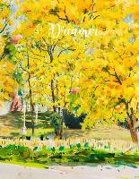 Dreamer: College Ruled Paper with Full Premium Colored YELLOW Pages and a blue flower illustration on each page, 8.5 x 11- 80 Pages, Perfect for School, Office & Home- Thick Paper (Paperback)