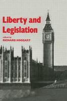 Liberty and Legislation (Hardback)