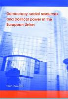 Democracy, Social Resources and Political Power in the European Union (Hardback)