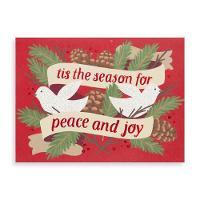 Peace and Joy Doves Holiday Glitz