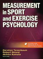 Measurement in Sport and Exercise Psychology (Hardback)