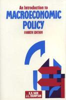 Introduction Macroeconomic Policy (Paperback)