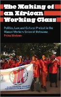 The Making of an African Working Class: Politics, Law, and Cultural Protest in the Manual Workers' Union of Botswana - Anthropology, Culture and Society (Hardback)