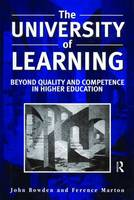 The University of Learning: Beyond Quality and Competence (Hardback)