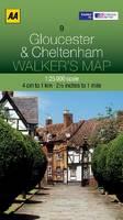 Gloucester and Cheltenham - Walker's Map (Sheet map, folded)