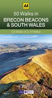 50 Walks in Brecon Beacons & South Wales - AA 50 Walks (Paperback)